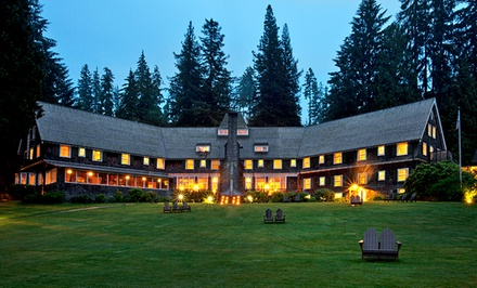 groupon daily deal - 1- or 2-Night Stay for Two at Lake Quinault Lodge in Quinault, WA. Combine Up to 10 Nights.