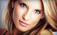 One or Three Custom Airbrush Makeup Applications or Makeup Lesson at Rebecca j Salon (Up to 53% Off)