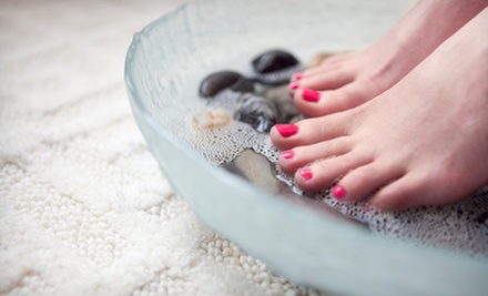 Two or One Karma Spa Mani-Pedis at Karma Salon Spa (Up to 57% Off)