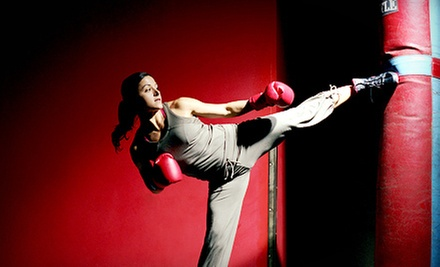 4 or 10 Kickboxing Classes with Gloves and One Personal-Training Session at Bodies in Motion (Up to 75% Off)