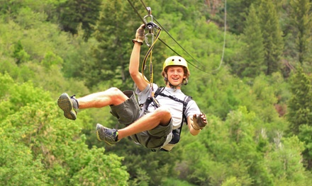 Zipline Tour for One, or Zipline Tour with Horseback Ride for One at Adventure Zipline (Up to 51% Off)