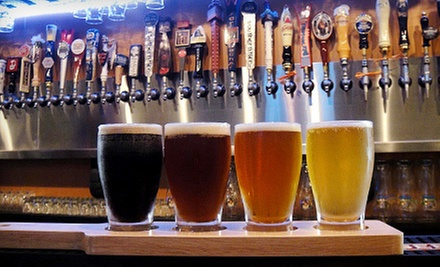 Beer Flight Package for Two or Four with Pints and a Gift Card at House for Beer (Up to 65% Off)