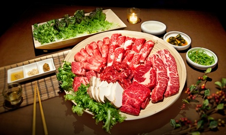 Korean-Barbecue Dinner with Appetizers and Wine for Two at Hanjoo (Up to 36% Off). Two Options Available.