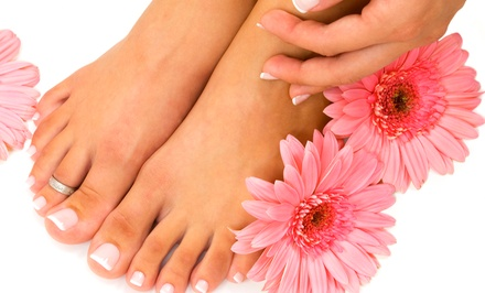Lemon Drop Pedicure with Optional Le Princess Manicure at Savvy Chic Nail Cottage (Up to 55% Off)