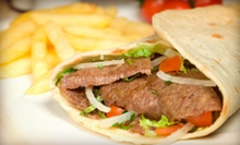 Casual Greek Food and Drinks at Think Grill (Up to 59% Off). Three Options Available.