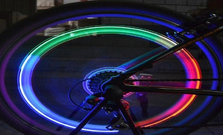 4-Pack of Multicolor Auto-Change LED Bike-Wheel Lights
