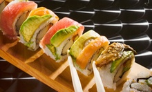 Sushi and Drinks for Two or Four at Ahi Revolving Sushi (Half Off). Two Options Available.