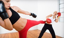 10 or 20 Kickboxing or Group Fitness Classes at Go For Broke Fitness Concepts (Up to 58% Off)