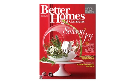 1-Year Subscription or Digital Subscription to Better Homes and Gardens (12 Issues Total)