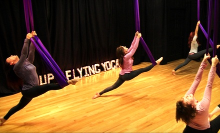 Aerial Yoga Party for Up to Seven or Four Aerial Yoga Classes at UP Flying Yoga (Up to 59% Off)