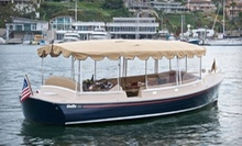 $175 for a Captain-Guided Party-Boat Rental or Romantic Getaway from S.J. Koch Duffy Electric Boats, LLC ($380 Value)