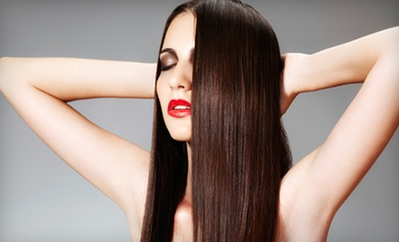 One or Two Keratin Hair-Smoothing Treatments with Flat-Iron Style at Styles by Nati (Up to 55% Off)