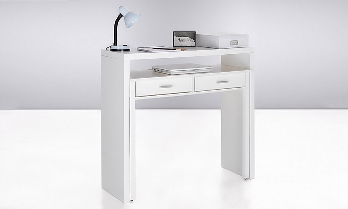 bureau console extensible groupon shopping. Black Bedroom Furniture Sets. Home Design Ideas