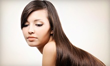 Keratin Treatment, Haircut with Color and Style, or 2 Haircuts and Blowouts at Absolutely Fabulous Salon (Up to 67% Off)