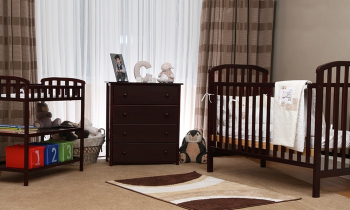 Groupon Goods Global GmbH: Nursery Cot, Changing Table, and Chest of Drawers for £189.95, Free Delivery (53% Off)