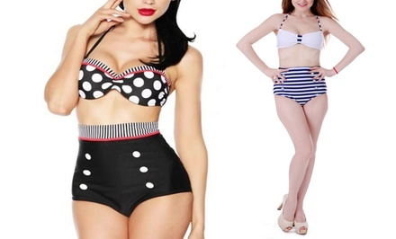 Women's Retro High-Waisted Swimsuits