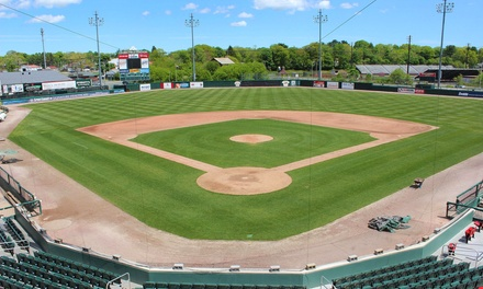 $17.50 for a Brockton Rox Baseball Game for Two with Parking Pass and Logo Ball  at Campanelli Stadium ($35 Value)
