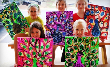 $17.50 for a Three-Hour Kids' Camp Art Class at Sip & Stroke ($35 Value)