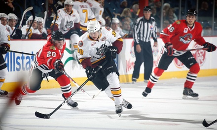 Chicago Wolves Hockey Game at Allstate Arena on March 16 or 26, or April 1 or 6 (Up to 38% Off)