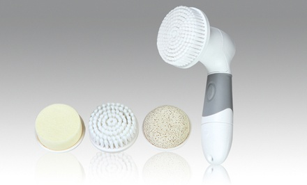 Face and Body Polisher with Four Massage Heads. Free Returns.