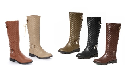 Carrini Quilted Knee-High Boots