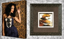 Canvas Printing or Custom Framing at Museum Quality Framing (Up to 71% Off). Two Options Available.