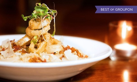 $35 for $60 Worth of Sustainable Italian Food and Drinks for Dinner at The Butcher Block Restaurant