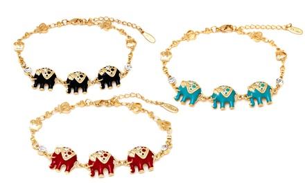 Triple Elephant Bracelet