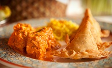 $49 for a Three-Course Indian Dinner for Two with Wine at The Mumbai Times (Up to $102 Value)