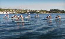 Standup-Paddleboard Yoga and Fitness Classes at Sunset Stand Up Paddle (Up to 63% Off). Four Options Available.