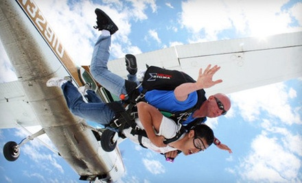$ 129 for a Shove Your Love Tandem Jump from Westside Skydivers (Up to $ 229 Value)
