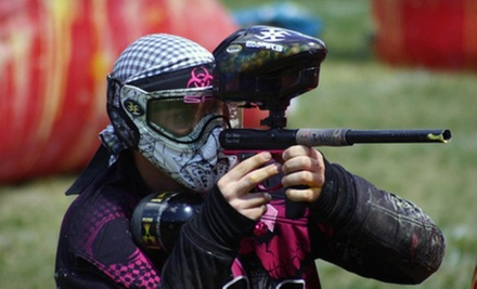 Paintball Package with Rental Gear and Unlimited Air for Two, Four, or Six at Bragg Creek Paintball (Up to 73% Off)