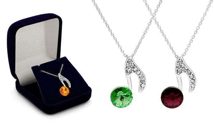 Um colar com nota e Swarovski Elements por 14,99€ ou dois por 24,99€