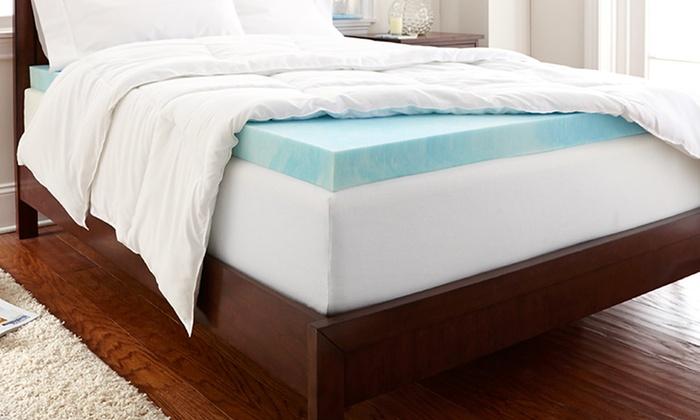 Purasleep Gel Enhanced Memory Foam Mattress Toppers Deal Of The Day Groupon