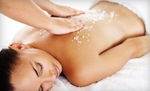 One or Three Salt Body Scrubs and Massages with Option for Facials at Whitinsville Wellness Center & Spa (Up to 63% Off)