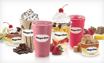 Ice-Cream Sundaes, Shakes, Cakes, and Coffee Blends at Häagen-Dazs (Up to 55% Off). Two Options Available.