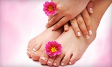 Mani-Pedi for Two with Champagne, Gel Mani-Pedi with Paraffin Dip, or Mani-Pedi at 'Air Salon &amp; Spa (Up to 55% Off)