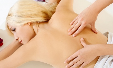 Massage with Optional Facial and Ultrasonic Cavitation, or Three Massages at Pampering Palms (Up to $271 Off)