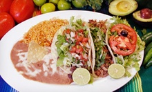 Mexican Cuisine at Super Taco Mexican Restaurants (Half Off). Two Options Available. 