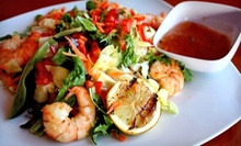 Caribbean Cuisine at Ocean Blue Caribbean Restaurant and Bar (Half Off). Two Options Available.