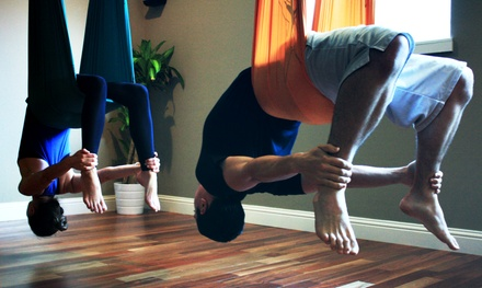 5 or 10 Group Classes, or One Men's Six-Week Yoga Series at Levitas Studio (Up to 39% Off)