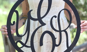 One Or Two Personalized Monogram Wall Hangings From Morgann Hill Designs (up To 54% Off)