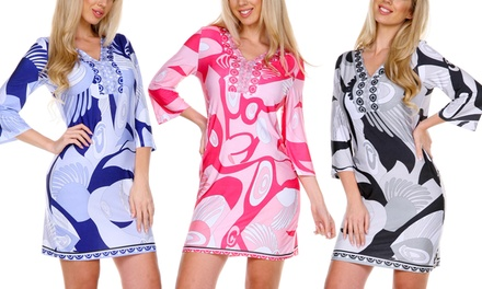 Women's Olivia Indigo Print Dress