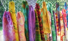 Silk-Scarf-Painting Workshop with a Glass of Champagne for Two or Four at Uniquely Yours Boutique (Up to 63% Off)