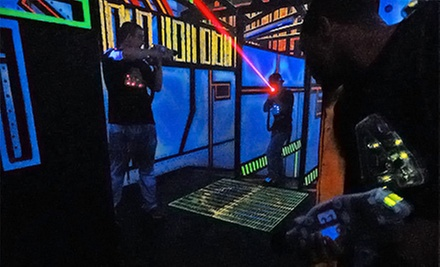 $12 for Laser Tag or Indoor Glo Mini Golf for Two with Glo Items at Zap Zone Lansing (Up to $24 Value)