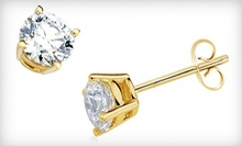 One Pair of 3-Carat Cubic Zirconium Stud Earrings or $50 for $100 Worth of Jewelry at The Yellow Door