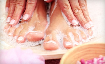 One or Two Spa Mani-Pedis at JS Hair Lounge (Up to 60% Off)