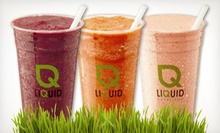 $5 for $10 Worth of Smoothies and Juices at Liquid Nutrition