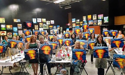 Painting Class for One or Six Adults at Uptown Art (Up to 33% Off)