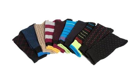 10-Pair Beverly Hills Polo Club Men's Dress Socks
